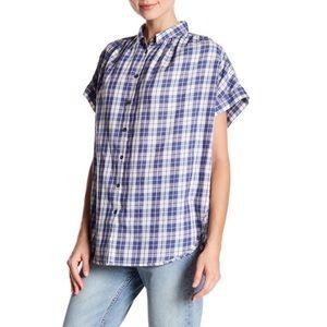 EUC Madewell central shirt in linus plaid